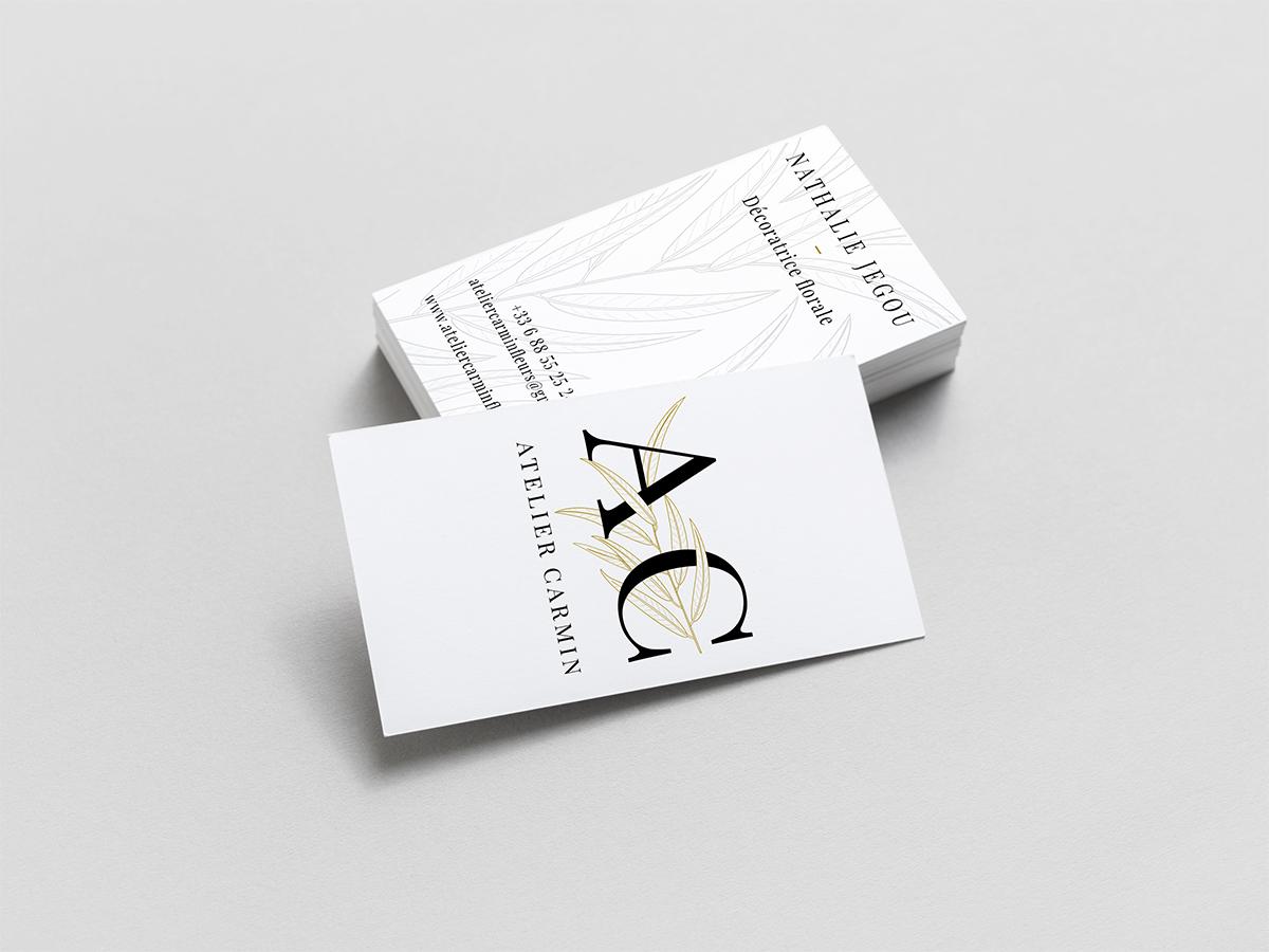 Atelier Carmin Carte De Visite Et Flyer
